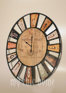 Large Oval Wall Clock