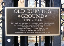 The wrought iron fence that encircles The Old Burying Ground