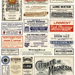 New Digital Collage Sheet ~ Poison Labels