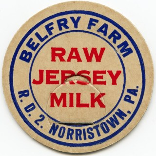Belfry Farm Raw Jersey Milk Bottle Cap