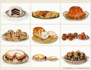 Food Digital Collage Sheet
