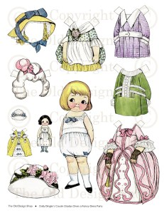 Dolly Dingle's Cousin Gladys Paper Doll