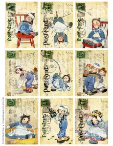 Vintage Raggedy Ann and Andy Postcards