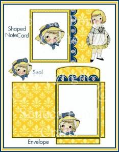 Dolly Dingle Notecard Sample