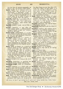 Vintage Dictionary Words Hope
