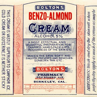 Bolton's Benzo Almond Beauty Label