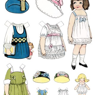 New Paperdoll Digital Collage Sheet in my Etsy Shop