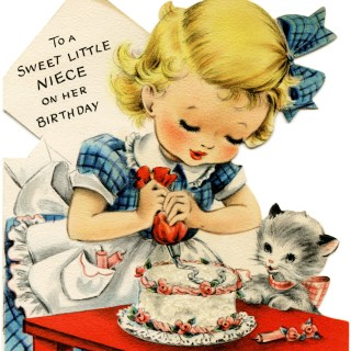 Vintage Birthday Cards for Girls