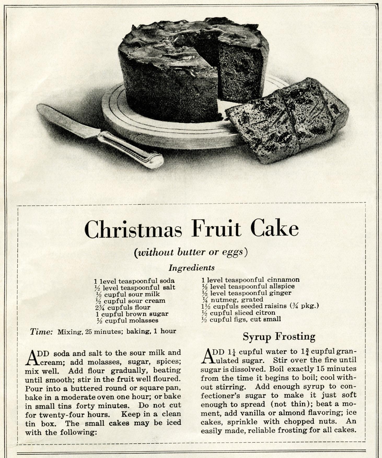 christmas cake old recipe