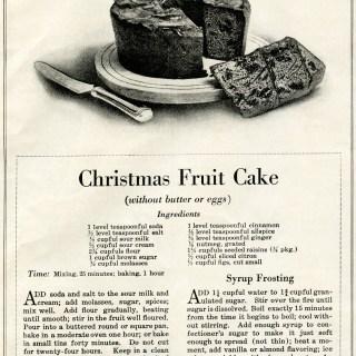 Vintage Christmas Fruit Cake Recipe