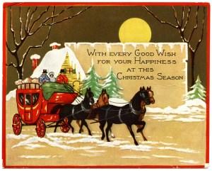 OldDesignShop_ChristmasHorseBuggyCard