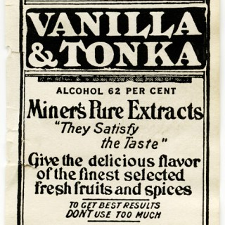 Vanilla Extract Vintage Food Label