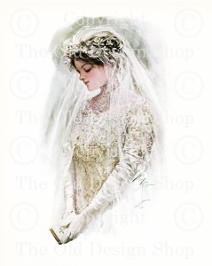 harrison fisher, the bride