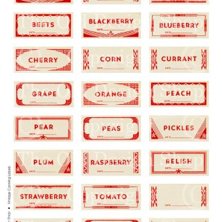 New Digital Collage Sheet ~ Vintage Canning Labels