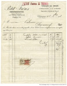 OldDesignShop_VintageFrenchInvoice2-8-1915
