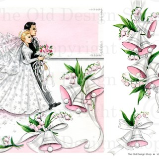 New Digital Collage Sheet in my Etsy Shop ~ Wedding Greeting Card Graphics