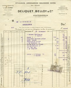 vintage french invoice, old french receipt, vintage ephemera, digital french graphics, old paper printable