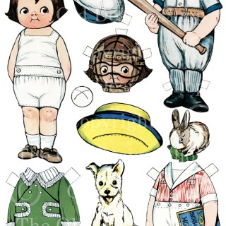 New Paperdoll Digital Collage Sheet in my Shop ~ Sammy Gets Ready for the Baseball Season
