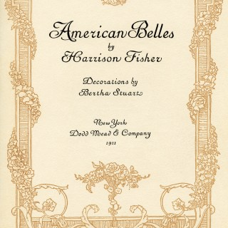 American Belles Title Page by Harrison Fisher