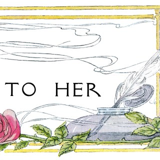 Harrison Fisher Title Frame To Her