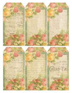 Gift tags ~ Queen of Flowers ~ lilac-n-lavender