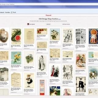 Old Design Shop Freebies Board on Pinterest