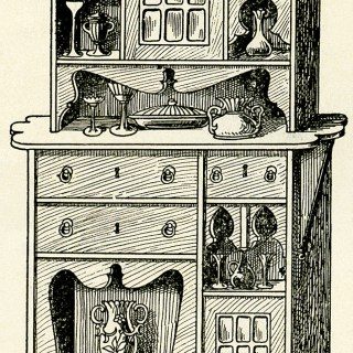 Victorian Furniture Flemish Cabinet