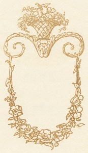free vintage image, free victorian swirl, harrison fisher american belles 1911, pretty vintage ornamental sketch, free printable digital download, public domain digital image, free victorian clipart, graphic design resource, vintage ornamental illustration drawing