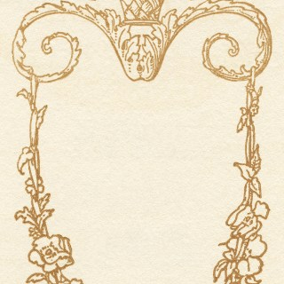 Gold Ornamental Frame Sketch