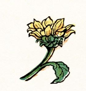 free vintage image, graphic design digital image, kate greenaway, under the window, circa 1880, old book illustration, old design shop, free vintage clipart, old flower illustration