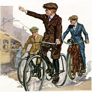 Free Vintage Image ~ Boys on Bicycles 1919