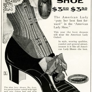 American Lady Shoe Vintage Advertisement