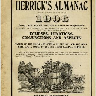 Herrick's Almanac Cover Vintage Image