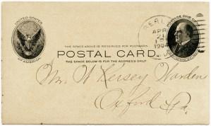 vintage business postcard, free vintage clipart postcard, antique business card, J G Harrison and Sons fruit and plants postcard, old business promo card, postmark 1904
