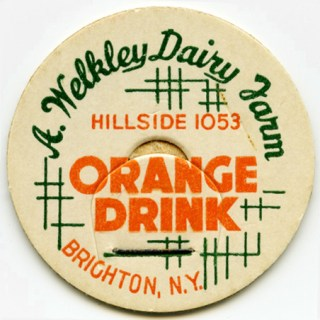 Orange Drink Vintage Bottle Cap Clipart