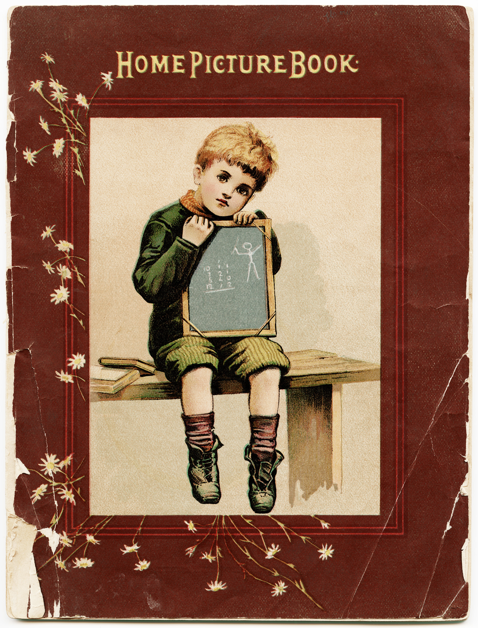 Old School Book Cover : Tattered book cover free vintage image old design shop