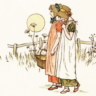 Free Vintage Image ~ Victorian Girls by Kate Greenaway