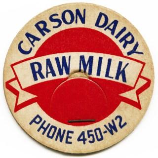 Carson Dairy Milk Bottle Cap
