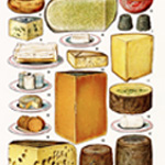 mrs beeton cheese, vintage cheese clipart, dairy clip art, printable food graphics, antique cookbook image