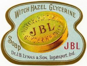 free vintage image, witch hazel label, glycerine soap vintage label, lynas & son, soap label clipart, antique soap label graphic, free printable label