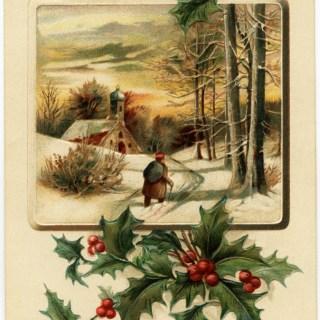 Free Vintage Image ~ Merry Christmas Postcard