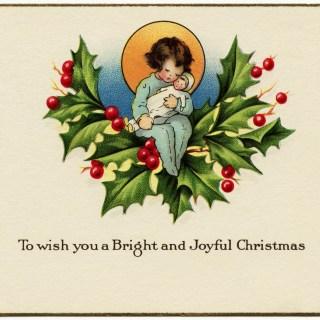Free Vintage Image ~ Bright and Joyful Christmas Card