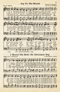 joy to the world, heard the bells on christmas day, vintage sheet music, christmas hymn, public domain christmas song, free sheet music graphic