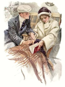 harrison fisher the proposal, vintage wedding, love and marriage, high res digital image
