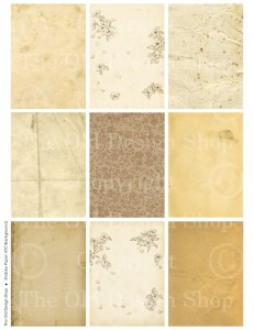 ATC ACEO digital shabby cards, digital collage sheet, grunge paper
