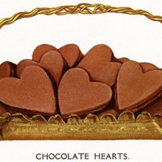 Free Vintage Image ~ Chocolate Hearts