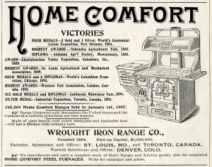 vintage advertising, home comfort stove, wood burning stove clipart, stove clip art, antique stove, free vintage ad graphic