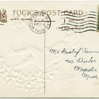 Free Vintage Image ~ Tuck's Postcard Back 1909