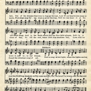 Free Sheet Music Graphic ~ Love's Old Sweet Song