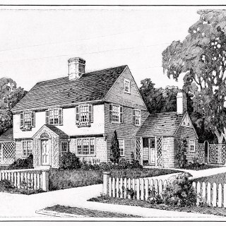 1917 House Illustration and Floor Plans